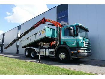 Scania P124.420 6X2 PK15500 MANUAL FULL STEEL EURO 3  - kipper vrachtwagen