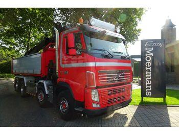 Kipper vrachtwagen Volvo FH 13 Container Kran