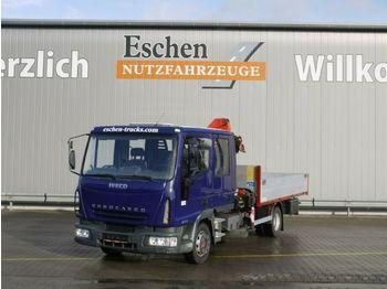 Openbakwagen vrachtwagen Iveco 80 E 17, 4x2 Doka, Palfinger PK 6500 Kran