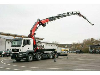 Openbakwagen vrachtwagen MAN TGS 35510 8X2 TG3  FASSI F820RA.2.27 + Jib