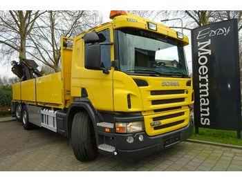 Openbakwagen vrachtwagen Scania P420 6x2*4 Kran