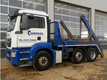 2012 MAN 6x2 Midlift Skip Lorry, Extendable Arms (Reg. Docs. & Plating Certificate Available) - portaalarmsysteem vrachtwagen