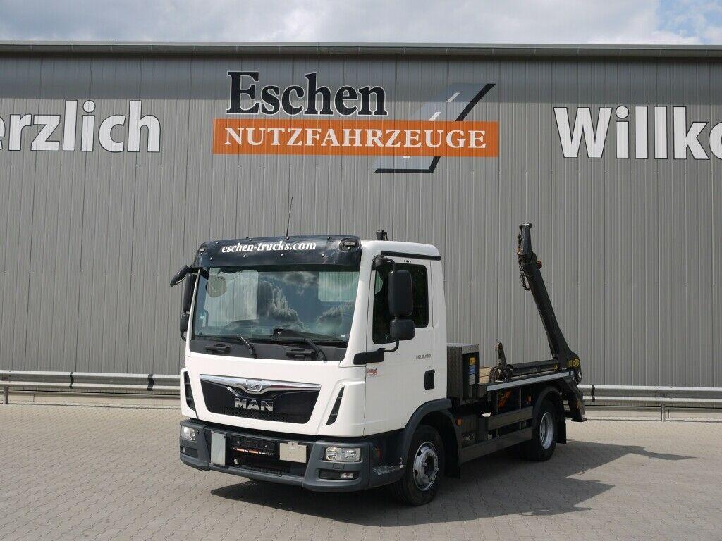 portaalarmsysteem vrachtwagen MAN TGL 8.180 4x2 BB,Meiller Teleabsetzer AK 4, Funk