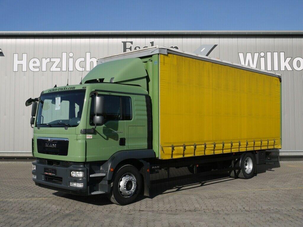 schuifzeilen vrachtwagen MAN TGM 15.340 BL, Krone Aufbau, Scheckheft, Klima