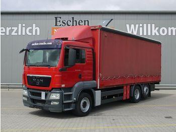 Schuifzeilen vrachtwagen MAN TGS 26.360 6x2-2 BL, Stapleraufnahme, Klima
