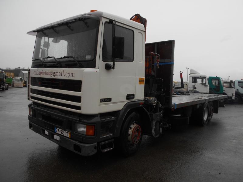 vrachtwagen met open laadbak DAF 95 ATI 310