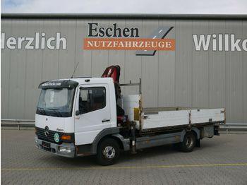 Vrachtwagen met open laadbak Mercedes-Benz 818 Atego*HMF 763K2 Kran*Diff.-Sperre*AHK*Blatt