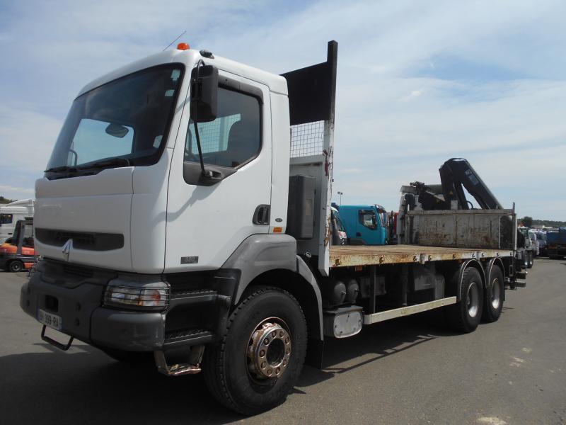 vrachtwagen met open laadbak Renault Kerax 320